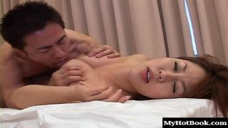 Rei Himekawa is a hot Asian pornstar who sits on her boyfriends face